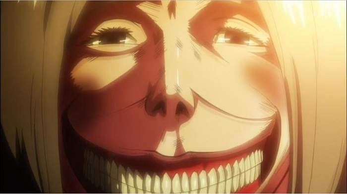 Smiling Titan are the scariest anime monsters in Shingeki no Kyojin aka Attack on Titan
