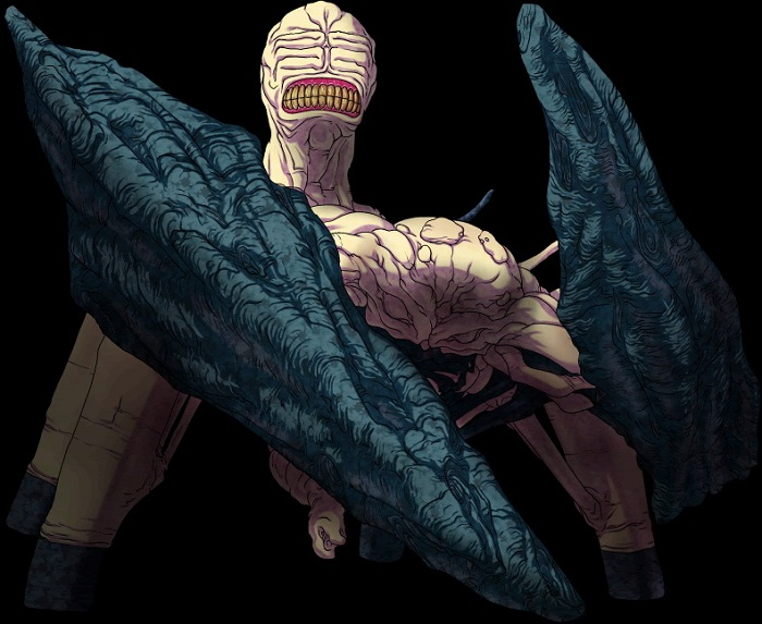 The Grappler-Class strain is one of the most terrifying anime monsters in Muv-Luv