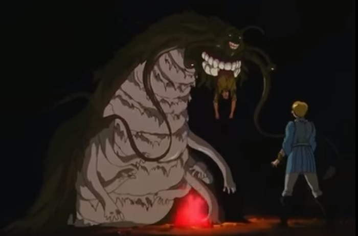The Count devours a member of the Band of the Hawk in Berserk