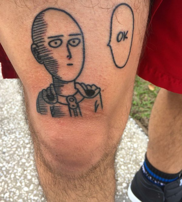 Best Anime Tattoos - One Punch Man