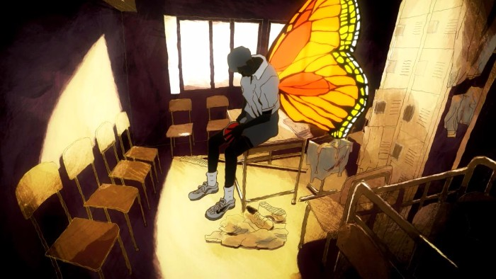 Ping pong the animation screenshot butterfly