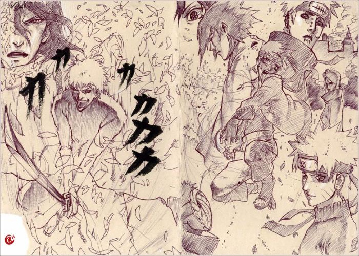 Naruto Bleach pencil anime drawing fanart sketch