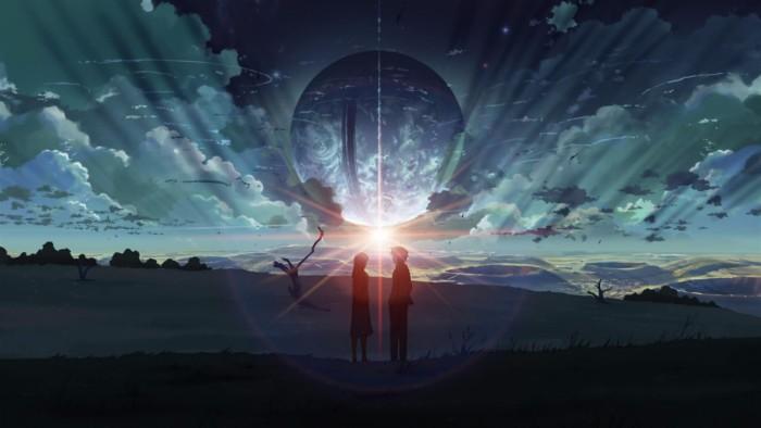 5 centimeters per second anime couple screenshot