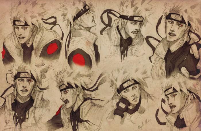 Naruto Kakashi fanart sketch