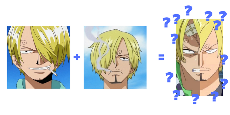 sanji's right and left eyebrows together?