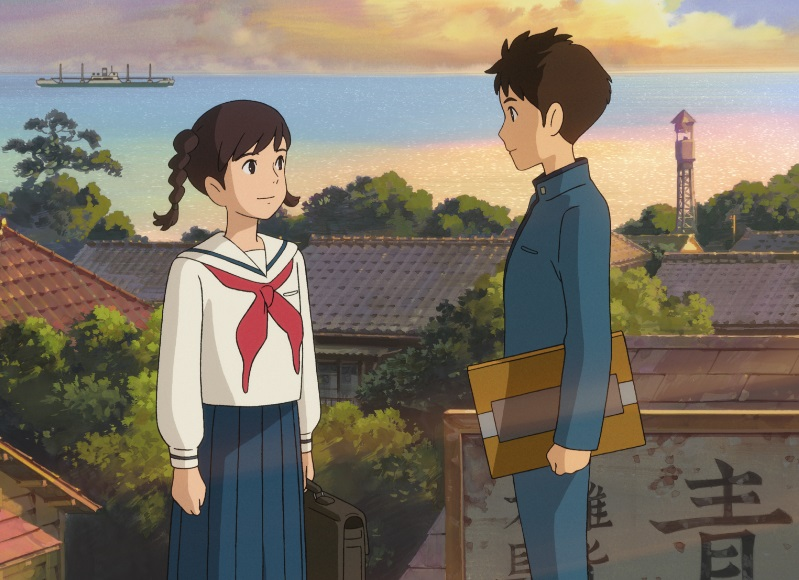 From Up on Poppy Hill Shun Kazuma and Umi Matsuzaki by the seafront