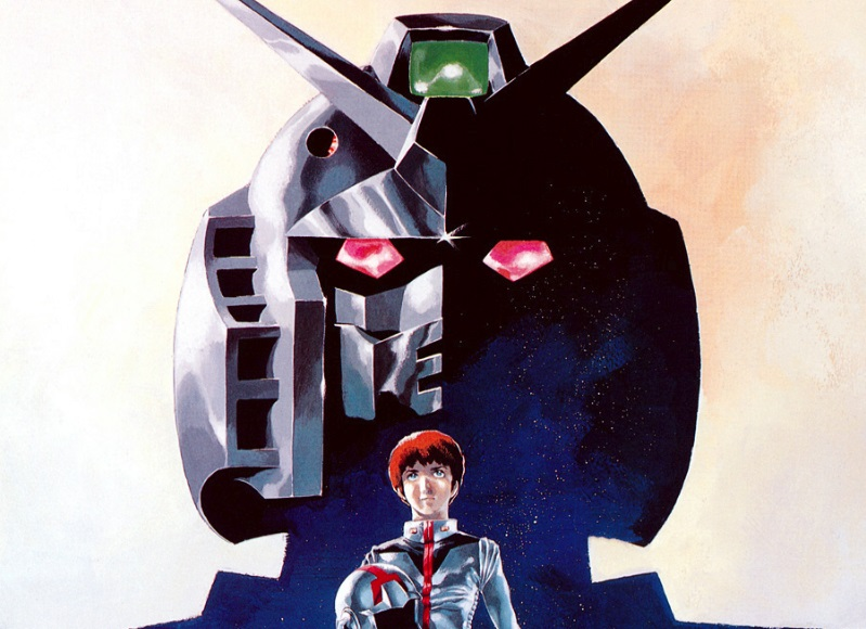 Mobile Suit Gundam movie poster with Amuro and the Gundam