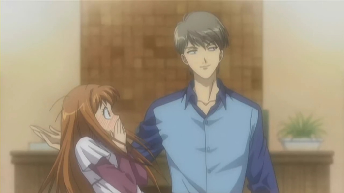 Kotoko looking shocked next to Irie