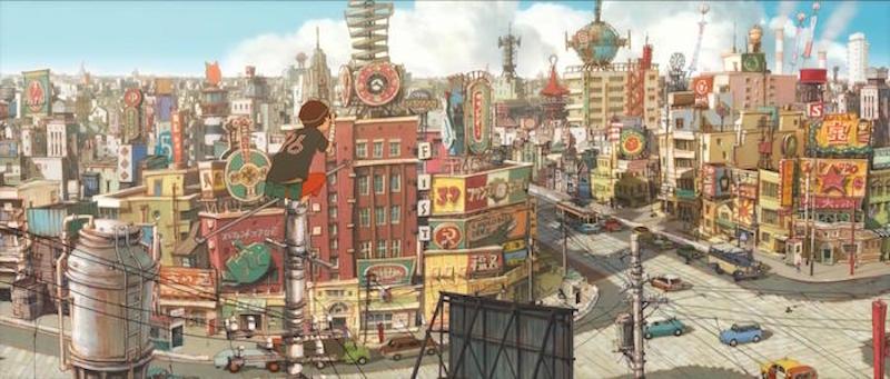 Tekkon Kinkreet city background