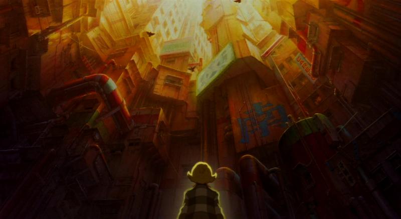 Metropolis looking up background
