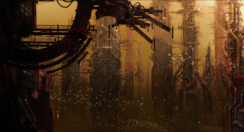Ghost in the Shell 2 city background