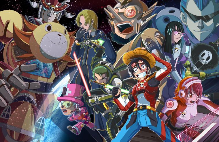 One Piece in space fanart