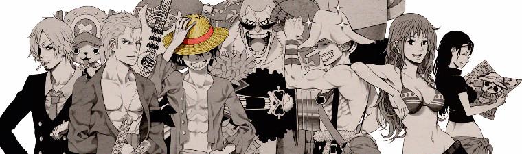 One Piece monochrome fanart