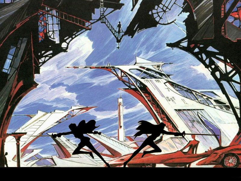 Utena duel background