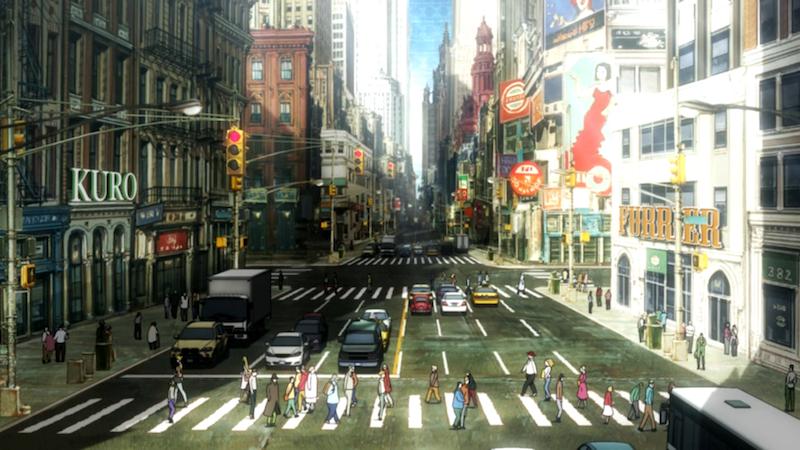 Blood Blockade Battlefront Manhattan background