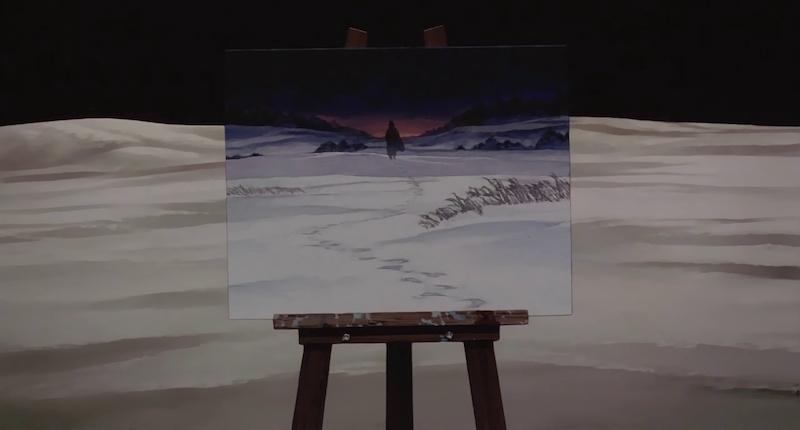 Millennium Actress painting background