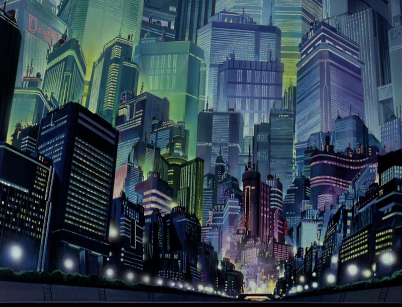 Akira street background