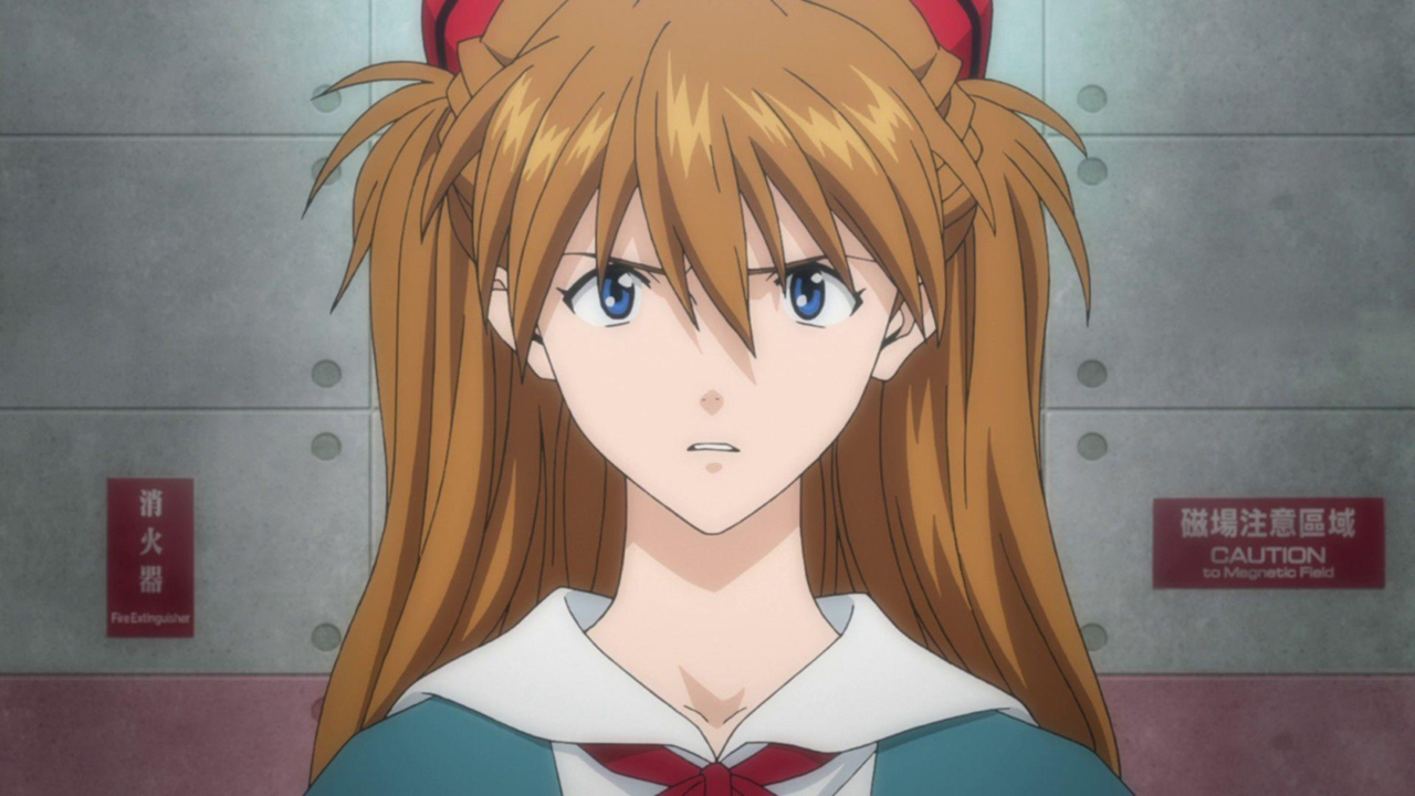 asuka langley looking slightly angry