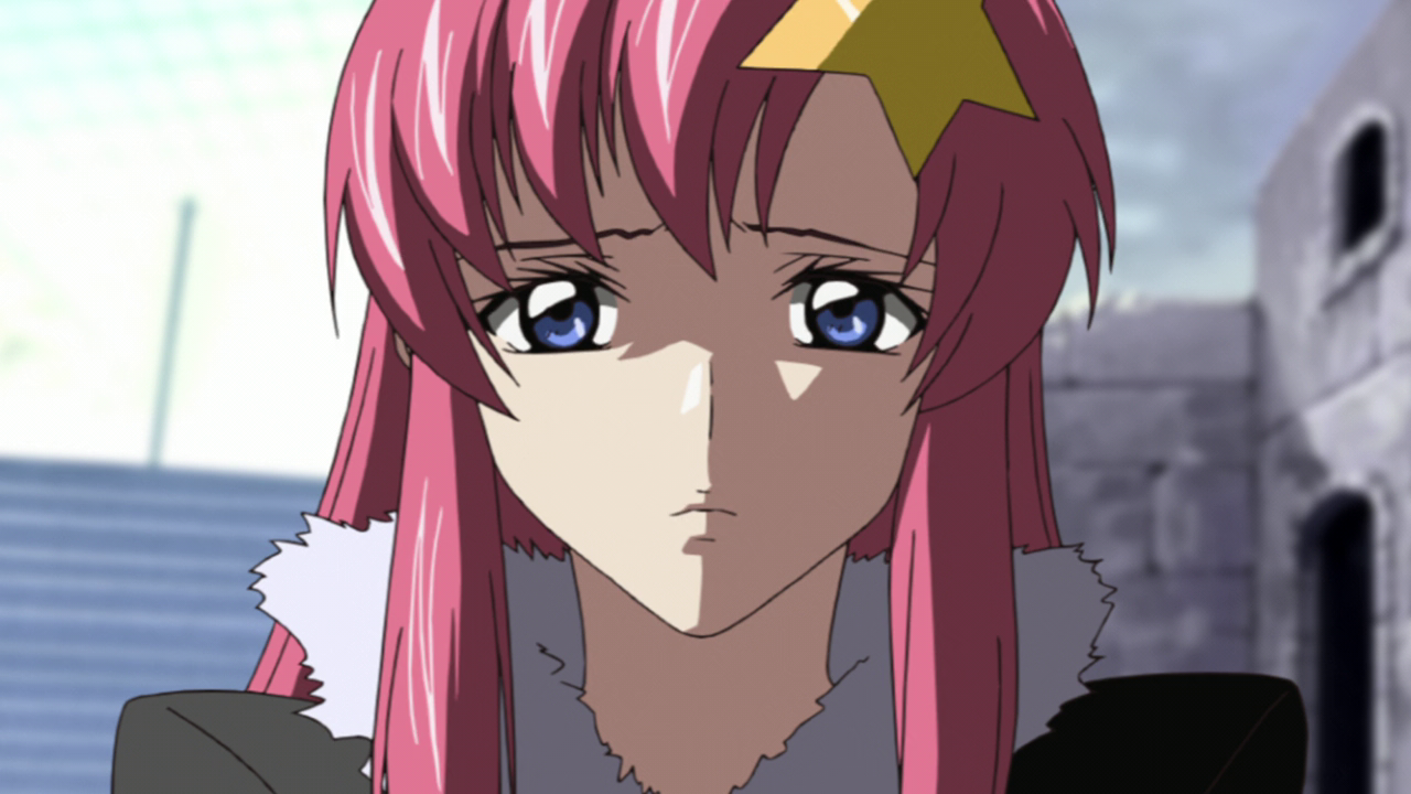 Lacus Clyne looking worried