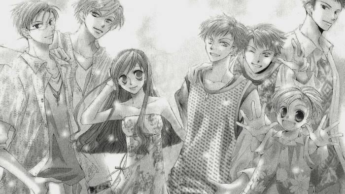 Hikaru Hitachiin, Mitsukuni Haninozuka, Haruhi Fujioka, Ouran Koukou Host Club