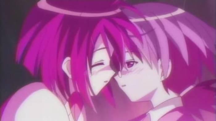 Negi Springfield and Nodoka Miyazaki kissing, Mahou Sensei Negima! Shiroki Tsubasa Ala Alba