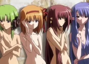 Lisianthus Eustoma Kaede Fuyou Nerine and Asa Shigure naked, Shuffle!