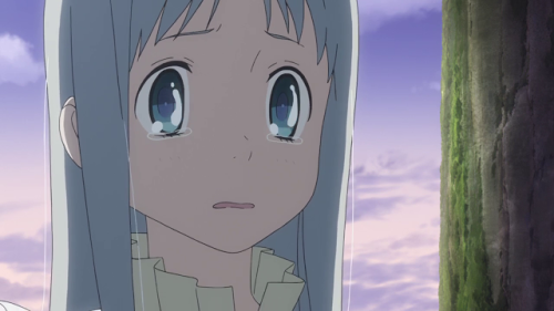 Meiko Menma Honma teary-eyed and sad, anohana: The Flower We Saw That Day