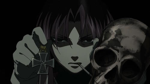 Revy stealing from a Nazi ship, Black Lagoon