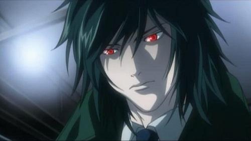 "Teru ""X-Kira"" Mikami stares at the screen as his eyes glow red"