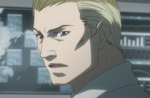 Anthony Rester, one of the few Death Note characters like Mogi, talking to Near
