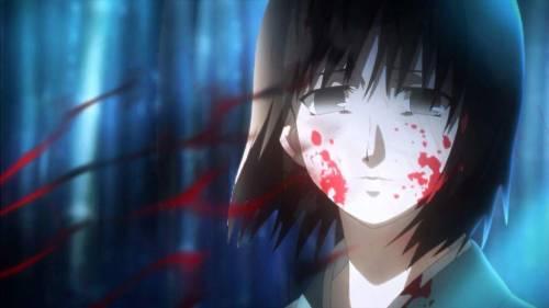 Best Anime Movies 2013, Shiki Ryougi with blood on face, Kara no Kyoukai: Mirai Fukuin