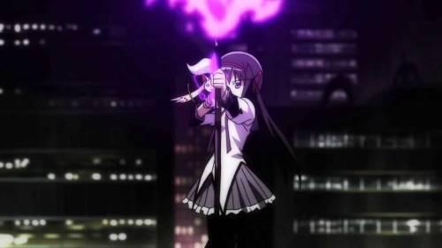 Best Anime Movies 2013, Homura Akemi firing magical arrow, Puella Magi Madoka Magica the Movie: Rebellion