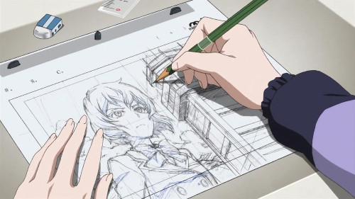 Shirobako drawing