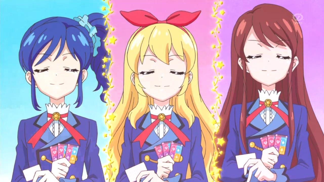 Aikatsu!: Ichigo Hoshimiya, Ran Shibuki, Aoi Kiriya