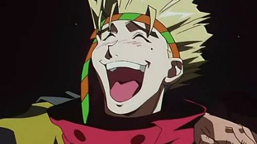 Vash the Stampede with hilarious smile, Trigun