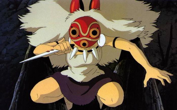 Top 15 Most Iconic Anime Masks - San - Mononoke Hime