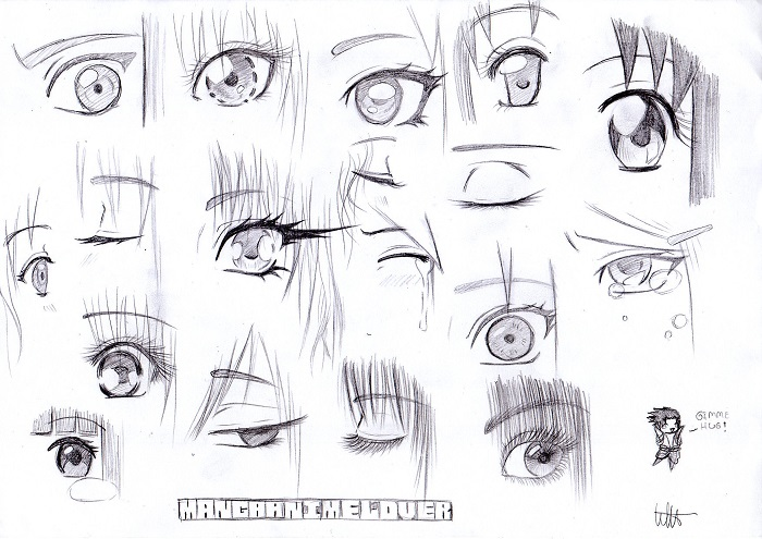 Anime eye sketches