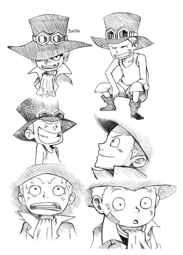 Sabo as a kid sketch