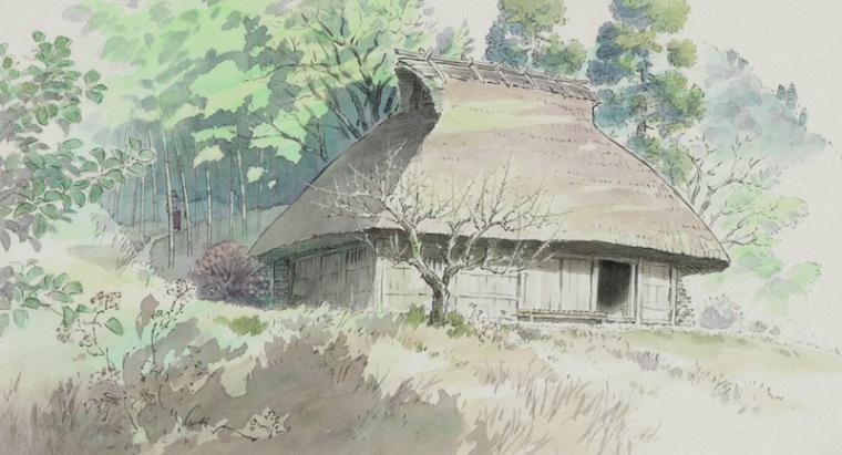 Princess Kaguya hut background