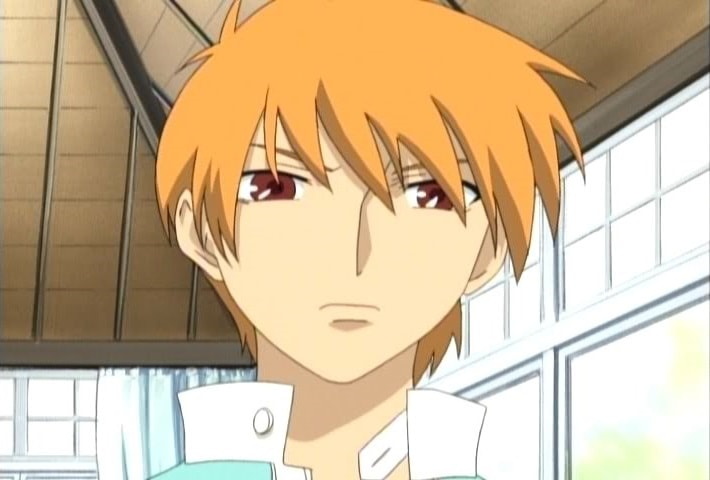 cat boy Kyou Sohma the male tsundere from Fruits Basket