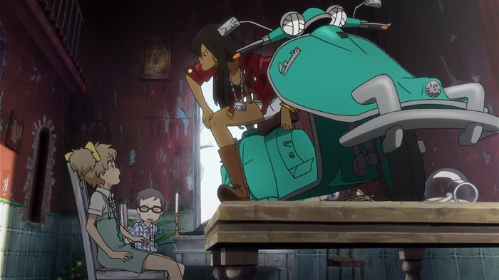 Michiko to Hatchin motorbike on table