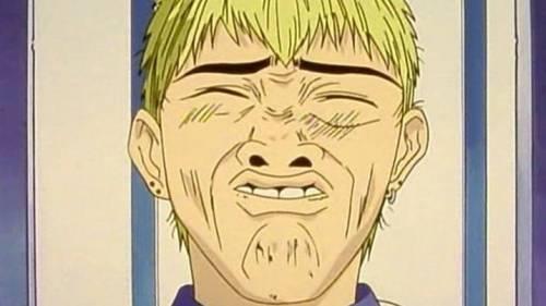 Funny Anime Faces, Eikichi Onizuka gurning, Great Teacher Onizuka