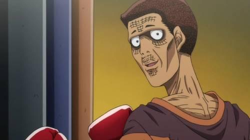 Funny Anime Faces, Masaru Aoki looking like a zombie, Hajime no Ippo: Rising