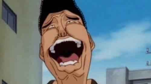 Mamoru Takamura laughing heartily, Hajime no Ippo