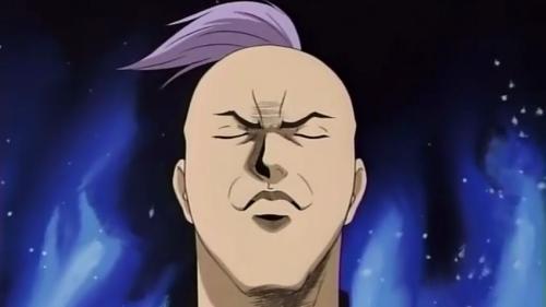 Shinjirou Hayashida with eyes shut, Cromartie High School