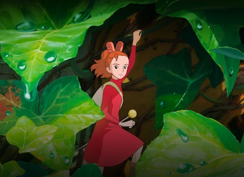 Arrietty the borrowers Arrietty under a leaf