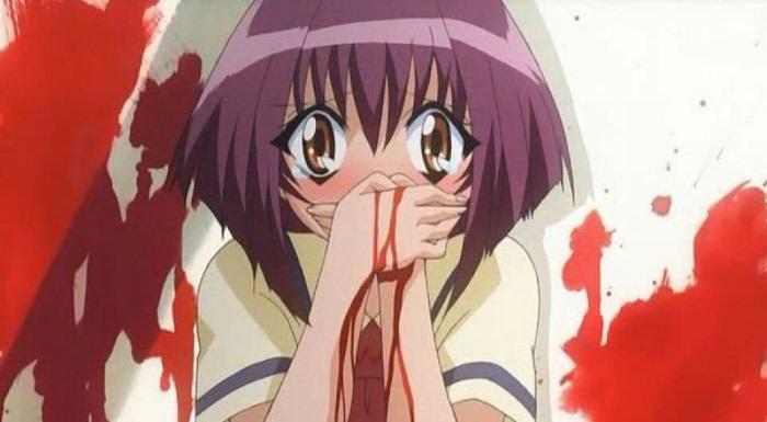 Karin anime nosebleed