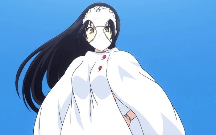 Shimoneta's Ayame Kajou with panties on her head