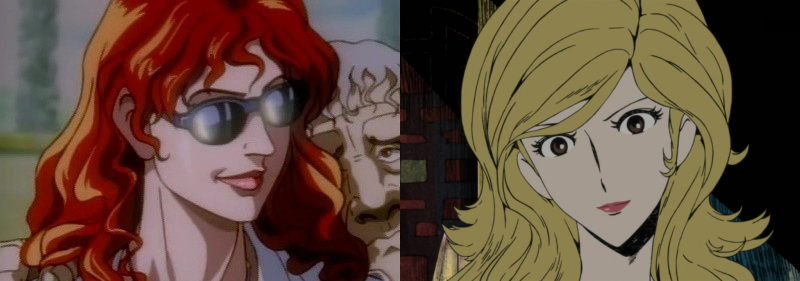 Anime Girl Hairstyles, Queen Bee and Fujiko Mine with wild 'n sexy hairstyles, Golgo 13: Queen Bee and Lupin the Third: Mine Fujiko to Iu Onna
