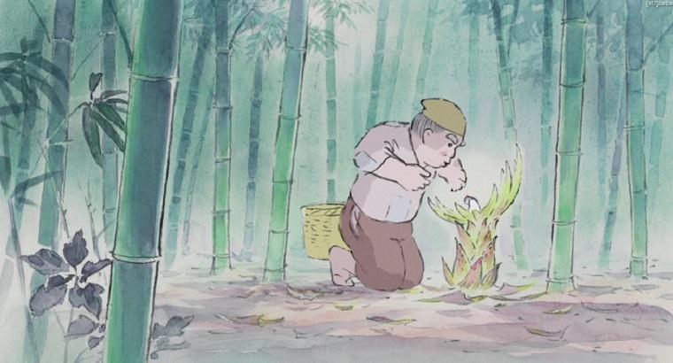 Kaguya-hime no Monogatari - Okina discovering Kaguya-Hime Best Anime Movies to Kick-Start 2016